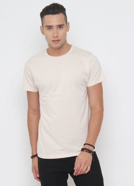 Crew Neck Tee In Whitecap Grey - Tuuda