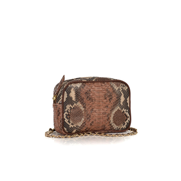 WANTOO, Two-in-one belt and crossbody bag MT30 Python