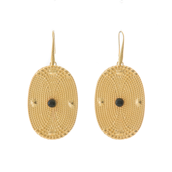 AINEE Earrings Gold-Plated Black