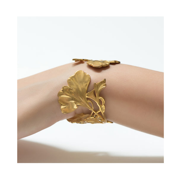 EUGENIE Art Deco leaves bracelet
