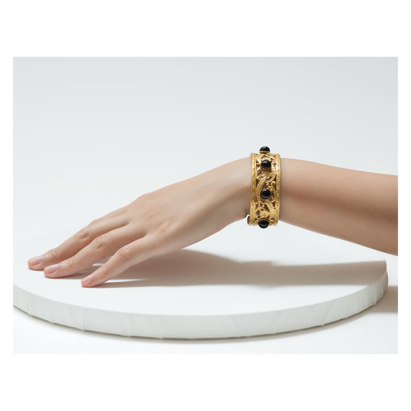 PHILAE bracelet gold-plated black agate