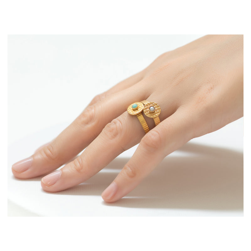 Kamar Adjustable Pearl Ring