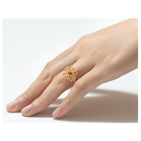MONA Adjustable Ring Red