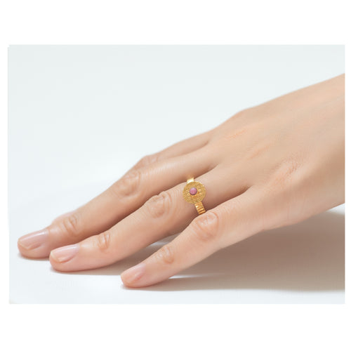 Kamar Adjustable Pink Ring