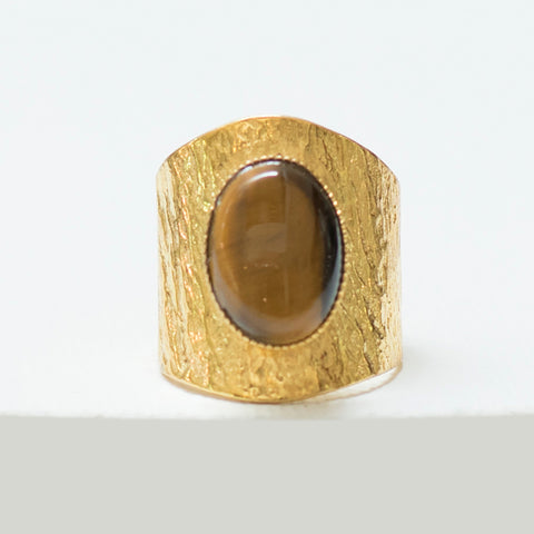 NEZA Adjustable Ring tiger eye
