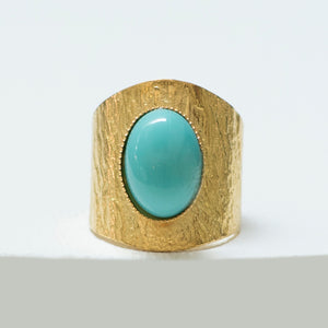 NEZA Adjustable Ring Turquoise
