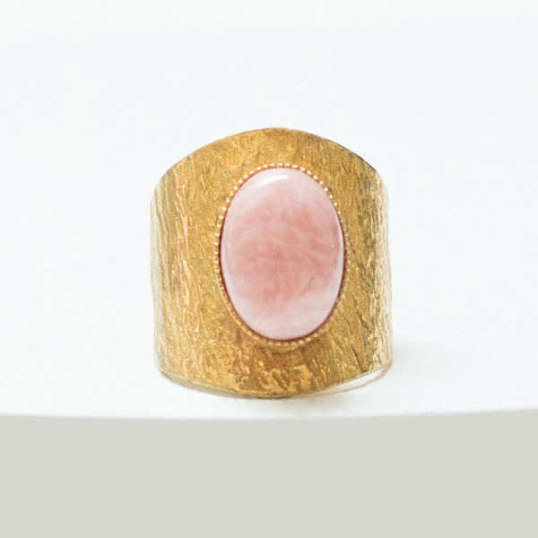 NEZA Adjustable ring Rhodochrosite stone