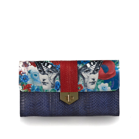 Clutch Bag with removable strap LUV YAH Papillon- Paola for Darsala