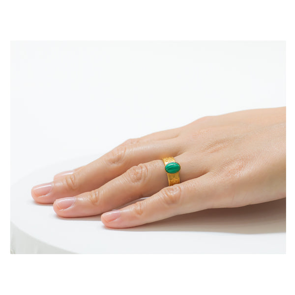 TANIS Adjustable Ring Malachite