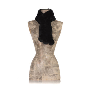 CHAMONIX Black Knitted  scarf