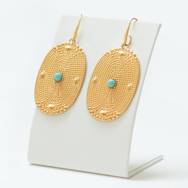 AINEE Earrings Gold-Plated Turquoise