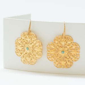 MUSK Filigree earrings Turquoise