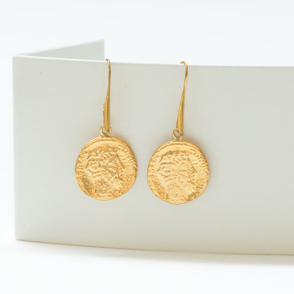 CESARINE Vintage-Style Coin Earrings