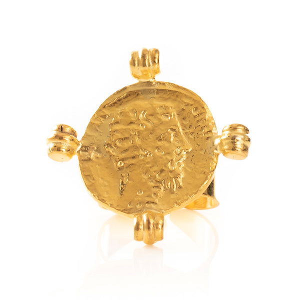 ALEXANDRE Vintage-Coin Ring
