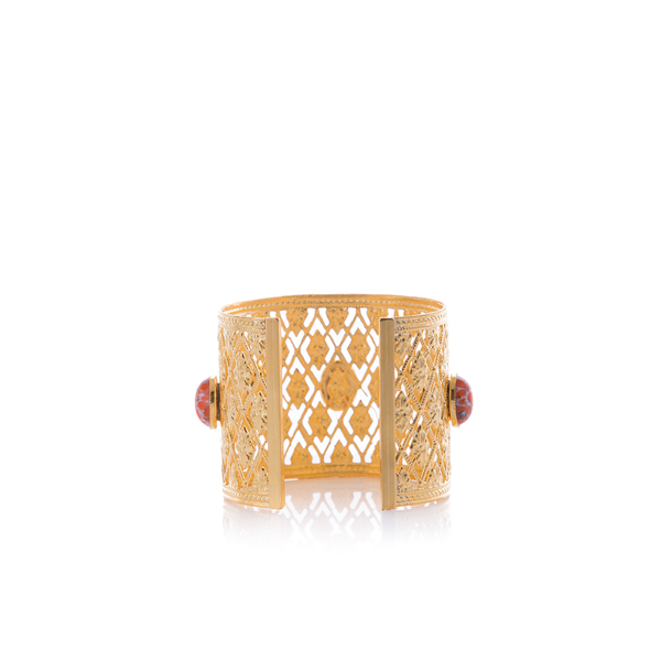 ANTIGONE Bracelet Gold-Plated Coral and Pearl
