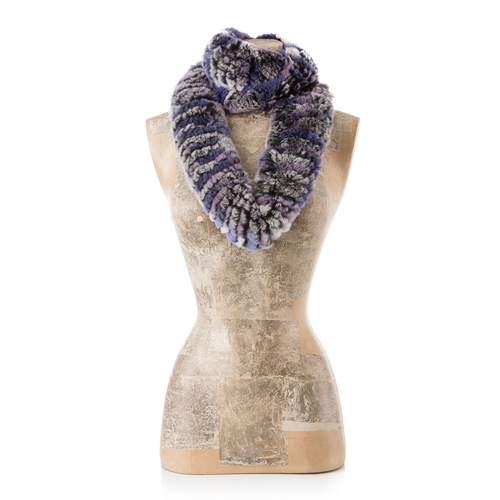ASPEN Purple Lavender Chinchilla Round Scarf