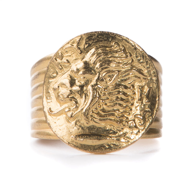 ASSAD gold adjustable ring