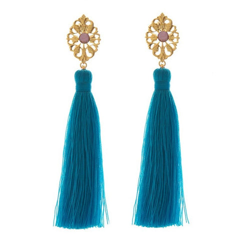 MINA Earring Gold-Plated Turquoise and Pearl