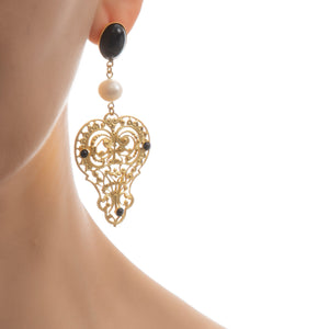 PERSEPHONE Earring Gold-Plated Black