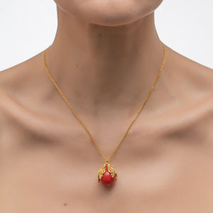 FLORA Pendant Necklace Red