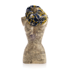 MERIBEL Mixed yellow navy blue Round knitted  scarf