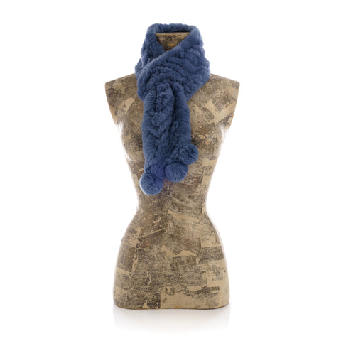 CHAMONIX BLUE Knitted  scarf