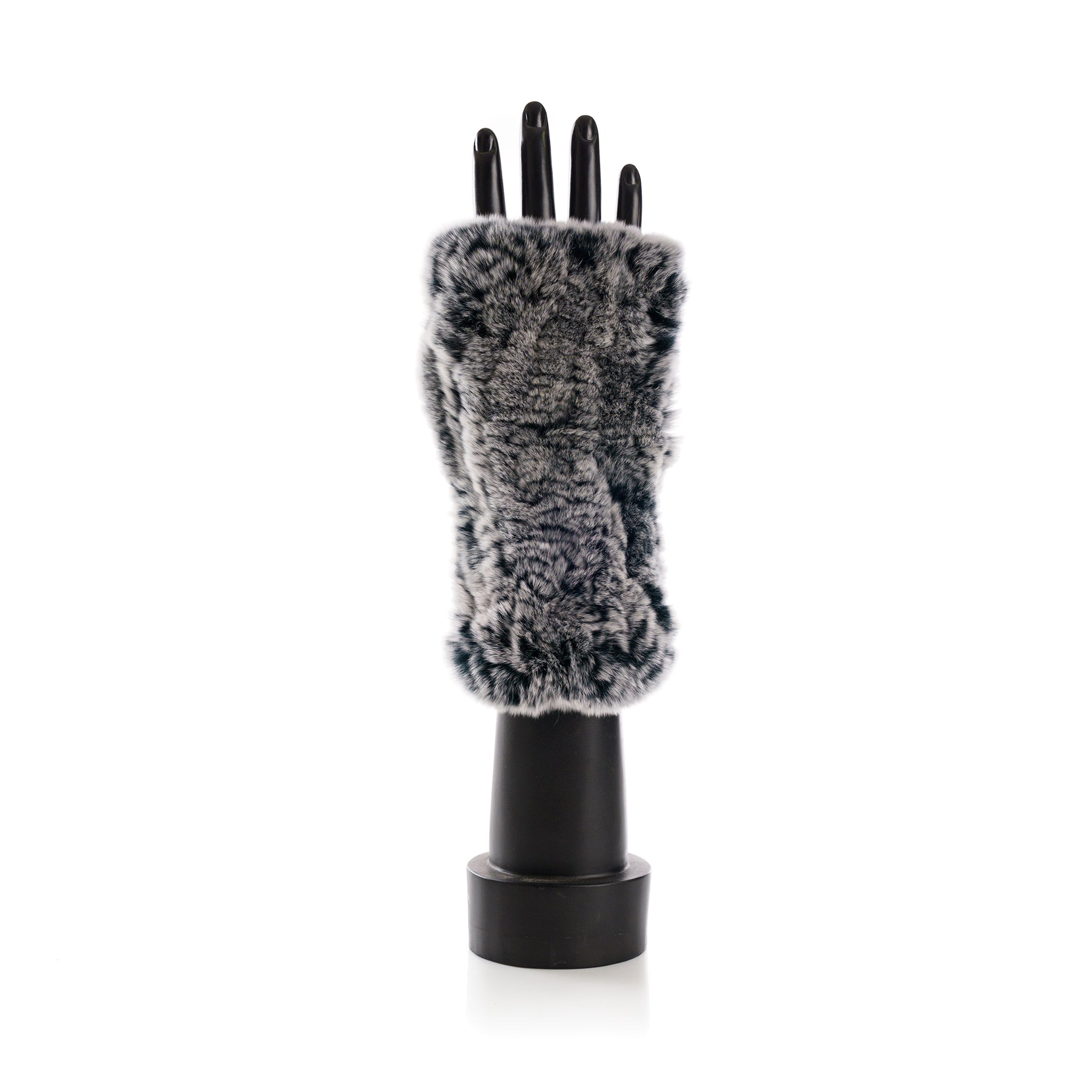CHATEL Light Grey Knitted Mittens