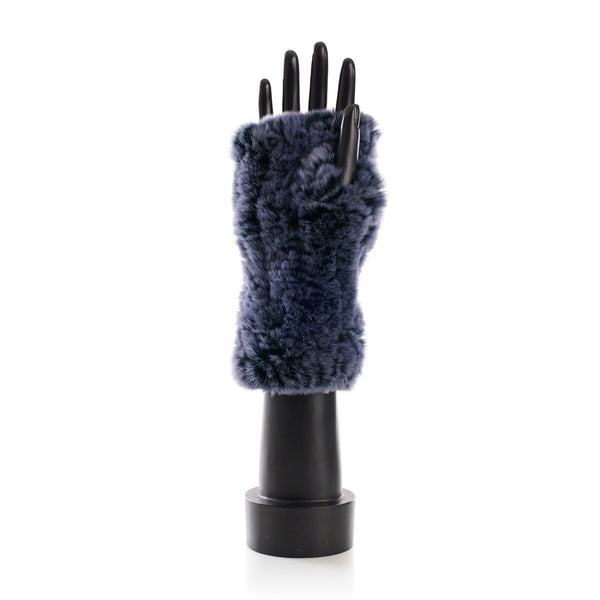 CHATEL Night Blue Knitted Mittens