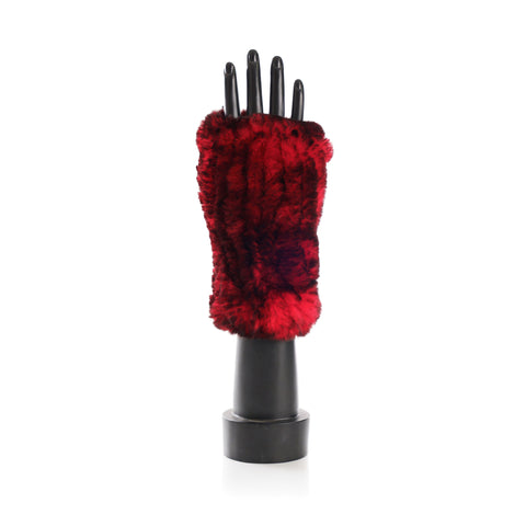 CHATEL Red Knitted Mittens