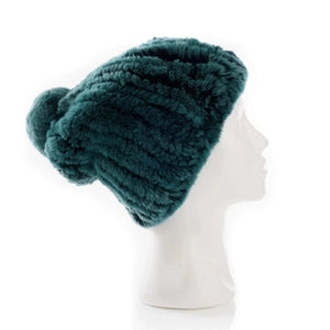Verbier Green Knitted Hat