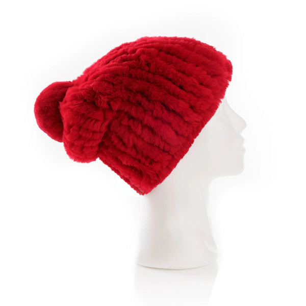 Verbier Red Knitted Hat