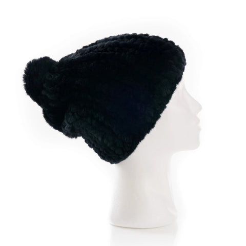 Verbier Black Knitted Hat