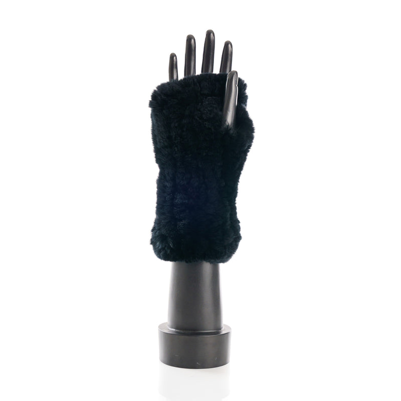 CHATEL Black Knitted Mittens