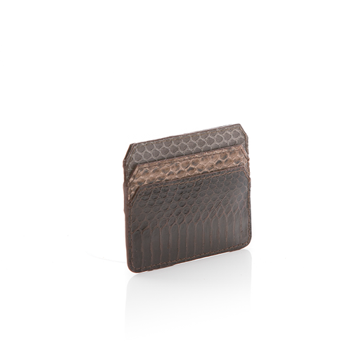 NO CASH Card Holder Turtle Cobra, Walnut Python, DBN Cobra