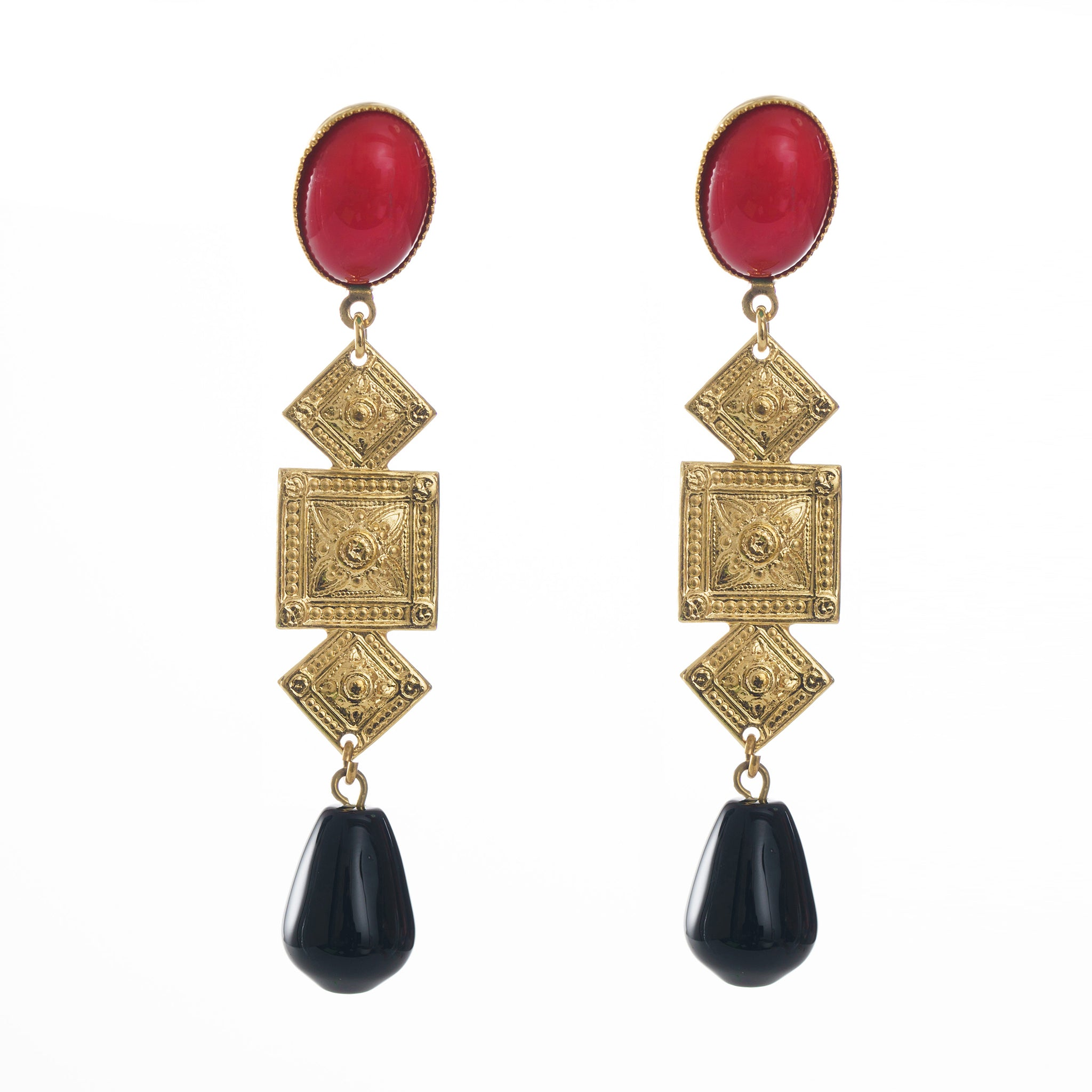 CIRCE Earring Red and Black