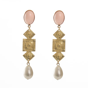 CIRCE Earring Coral and Pearl