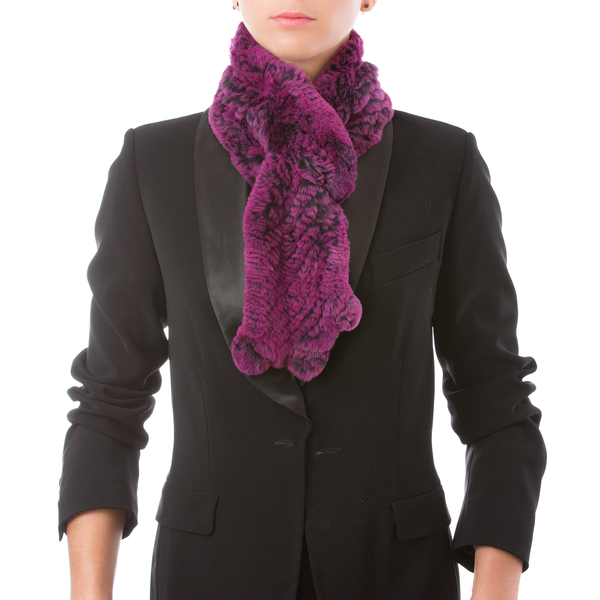 CHAMONIX purple knitted scarf