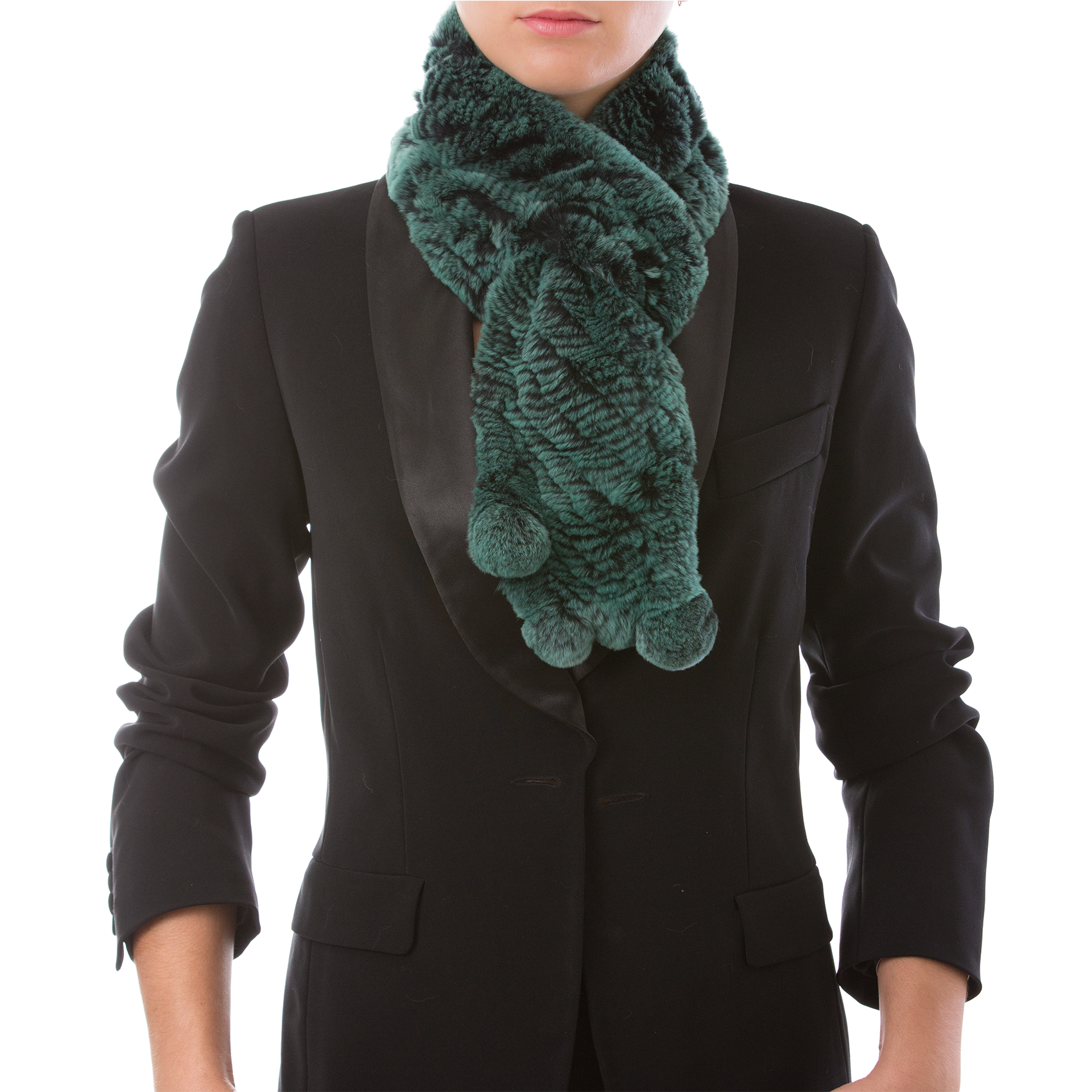 CHAMONIX green Knitted scarf