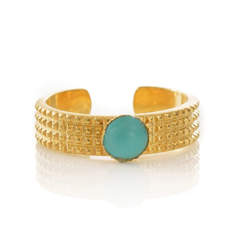 CLARIS adjustable ring turquoise