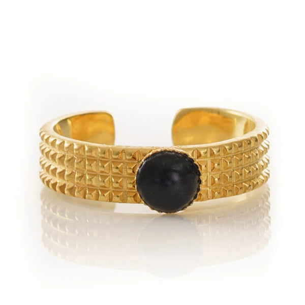 CLARIS Adjustable Ring Black