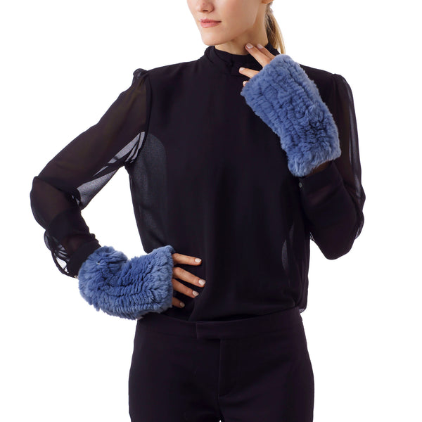 CHATEL Light blue knitted Mittens