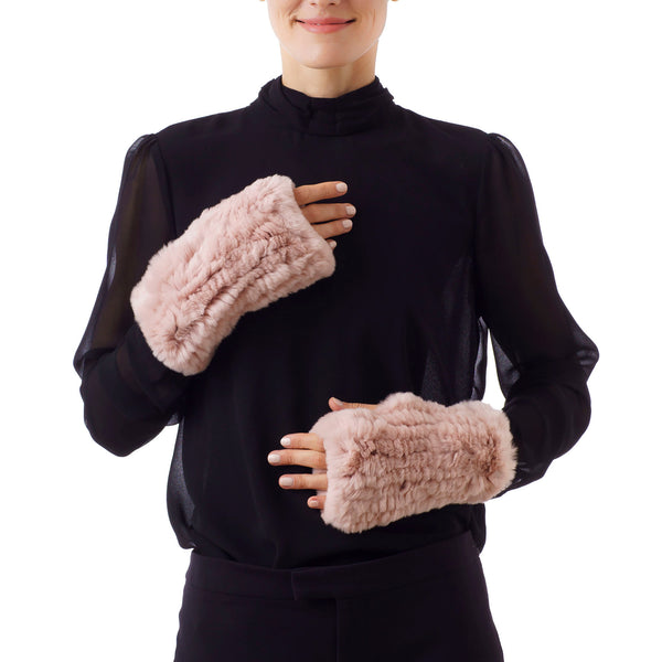 CHATEL Pink Knitted Mittens