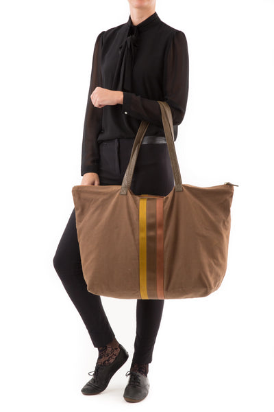 CARRY ALL COTTON CANEVAS BROWN