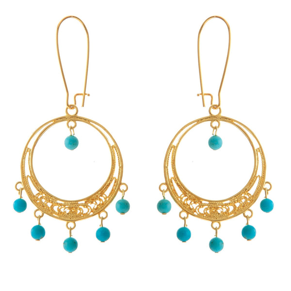 EMELYNE Earring Gold-Plated and Turquoise