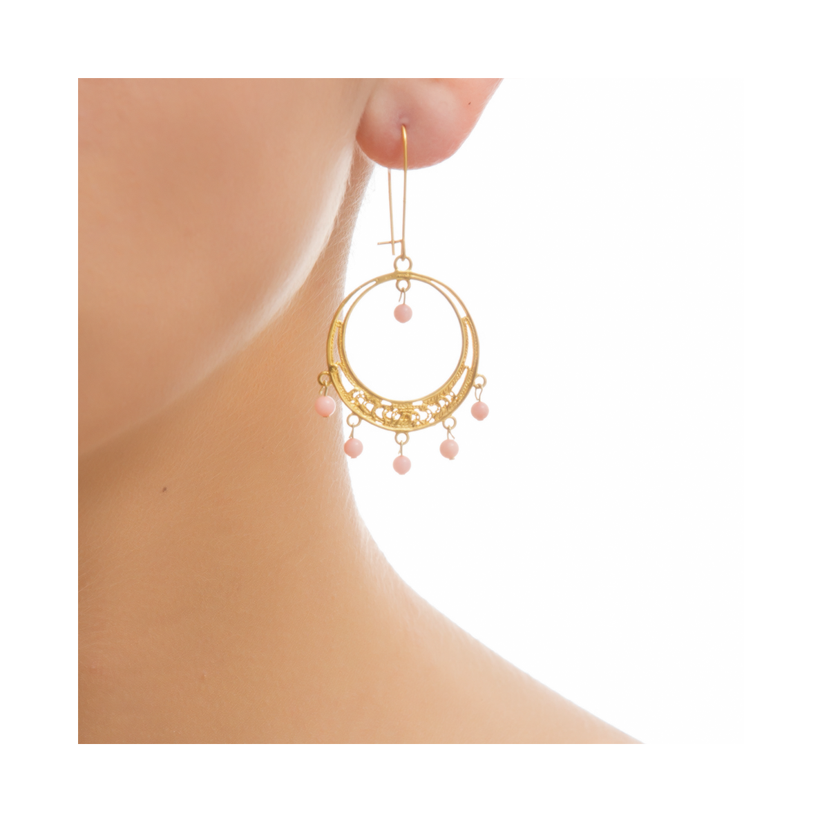 EMELYNE Earring Gold-Plated and Coral