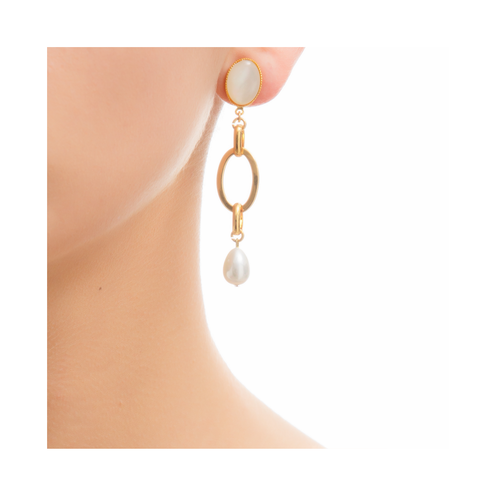 EVA Earring Gold-Plated Pearl