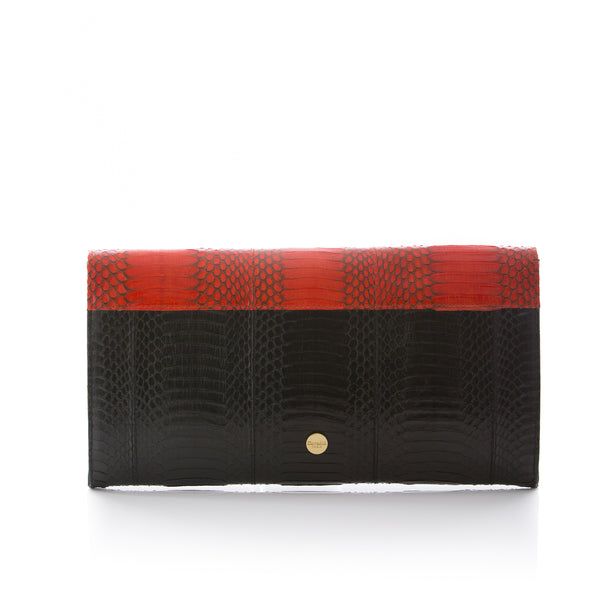 FURMEDABLE red clutch with shoulder strap