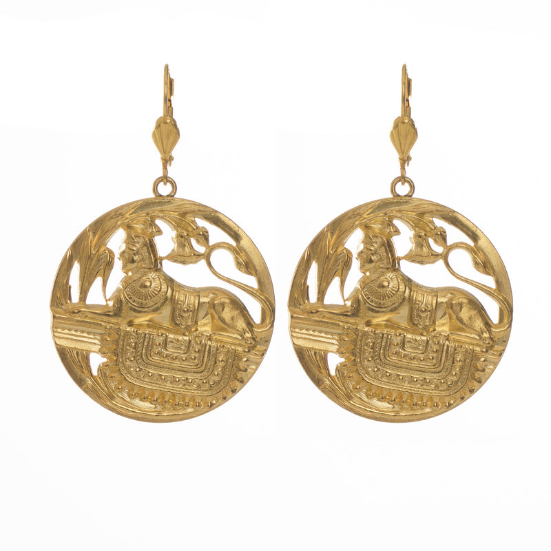 GIZA Earrings Gold-Plated Egyptian inspired