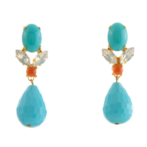 GRACE Earring Swarovski Crystal and Turquoise