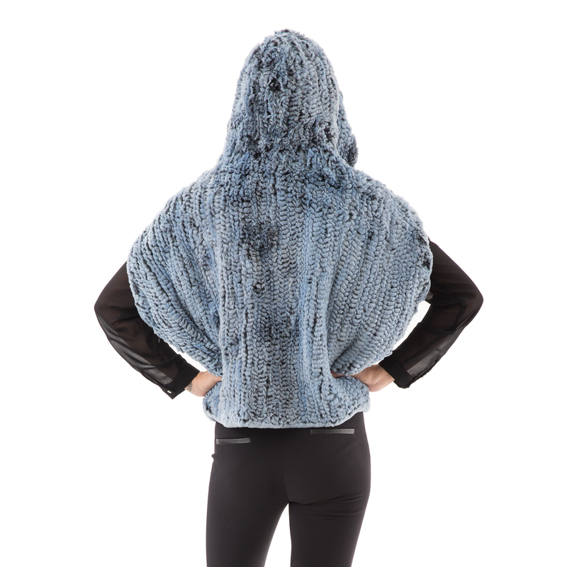 HOODIE  Grey warm  Blue fur